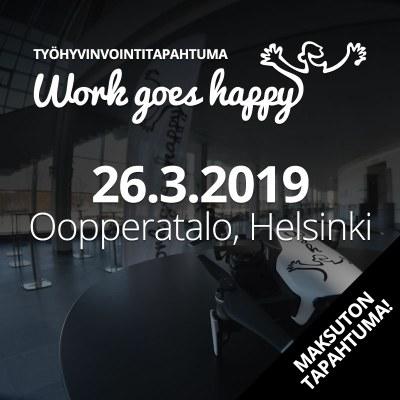 Tule juttelemaan jatkuvan oppimisen mahdollisuuksista Work goes happy -tapahtumaan!