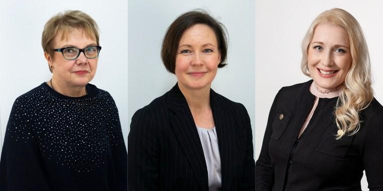 Virpi Malin, Päivi Patja, Monika von Bonsdorff