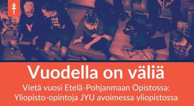 Kasvatustiede, Etelä-Pohjanmaan Opisto: Kasvatustieteen linjan opiskelijat oppivat yhdessä
